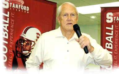 Coach Bill Walsh at Stanford