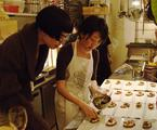 Celebrated Chef Ema Koeda Prepares Exquisite Hors d'oeuvres of Red Wine Bread and Smoked Octopus